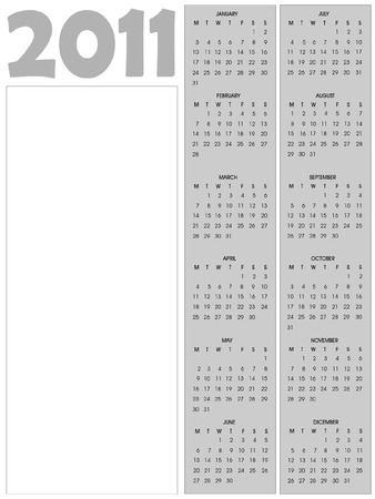 2011 calendar with blank vertical space for your text Vector