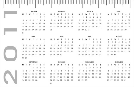 pocket calendar 2011 Vector