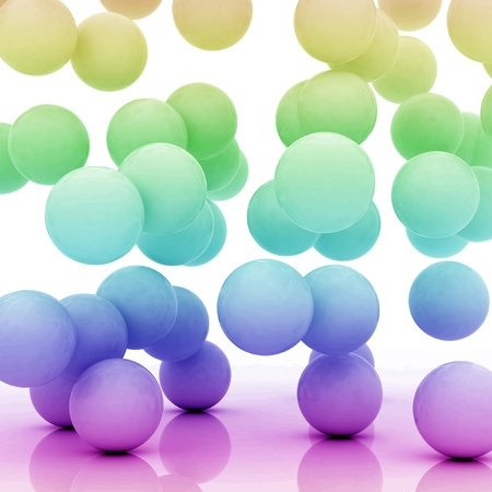 derivation: group of spheres falling on an abstract ground