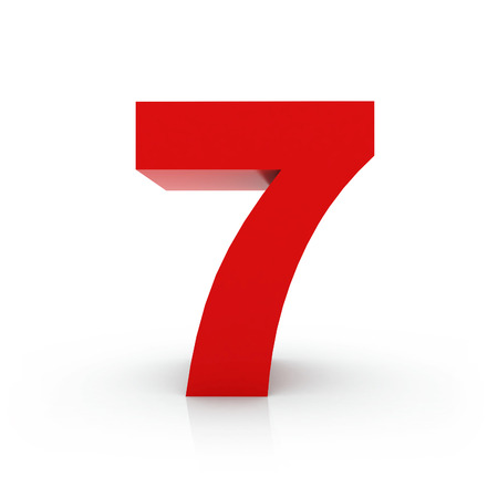 numerical value: number 7
