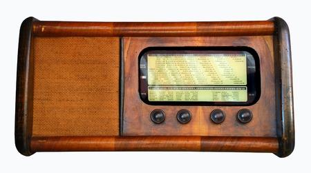 Vintage - Old italian radio, isolated photo