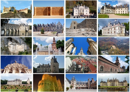 Photo collage - Castles in Europe