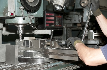 Drilling and milling CNC in workshop Stock Photo - 10366540