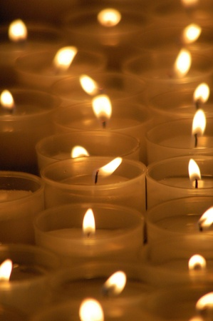 candleholders: Candles in a church