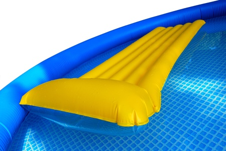 Two inflatable mattress  in the inflatable pool photo