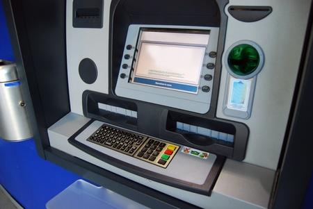 automatic teller machine: ATM, Automatic Teller Machine - Cajero autom�tico, dispensador de Foto de archivo
