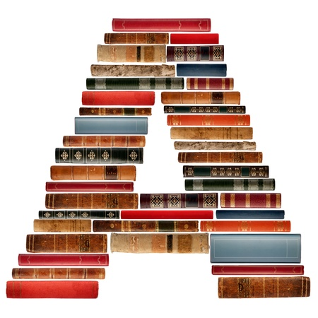 spines: A - Font composed of spines of books