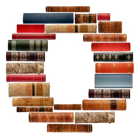 spines: O - Font composed of spines of books