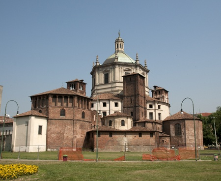maggiore: Basilica of Saint Lawrence (San Lorenzo) Stock Photo