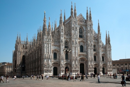 Milan Cathedral (Duomo di Milano) is the cathedral church of Milan in Lombardy, northern Italy. It is the seat of the Archbishop of Milan. The cathedral is significant in the promulgation of the Christian faith, for its role in the establishment of Catho