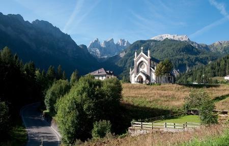 Small typical Italian church - Mountain, Dolomites, Italy
