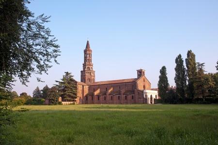 The Chiaravalle Abbey, Italy Standard-Bild