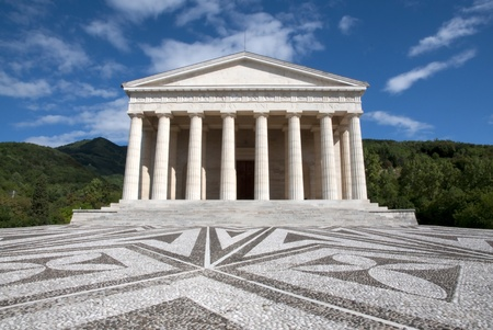 Canova Temple - Possagno, Italy. The temple is a neo-classical building, designed and funded by Canova. Standard-Bild