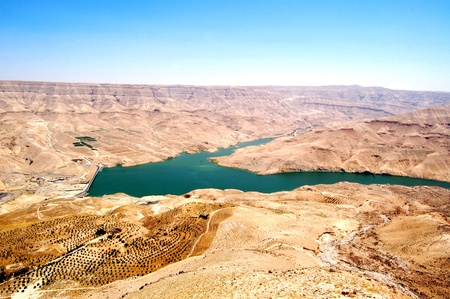 Wadi Al-Mujib Dam. Located 100 kilometres south of Amman, between the governorates of Madaba and Karak, the Mujib Dam is designed to store rainwater for domestic, industrial and agricultural purposes.