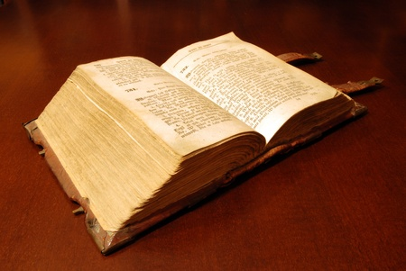 Versione del XVIII secolo la Bibbia Sacra Archivio Fotografico - 10488244