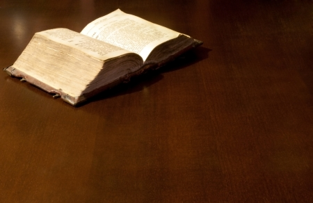 Old book: holy Bible