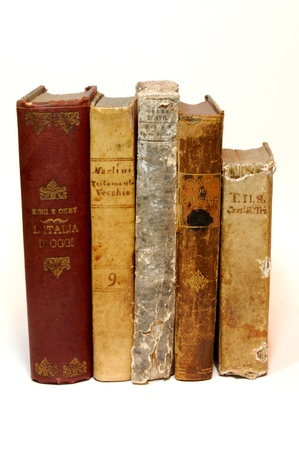 Old books (17001600) printed in italy Stock Photo