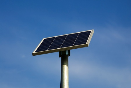 Solar powered road sign photo