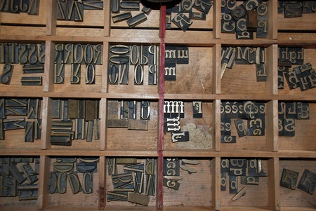 Typography workshop: old lead type for printing