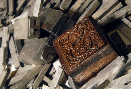 prepress: Lead and wood: old letterpress type