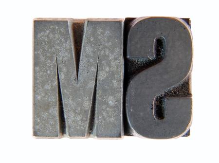 printing block block: Lead: two old letterpress type