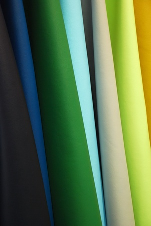 The artificial leather produced in Italy is similar to real leather. It is used to produce sofas, handbags, shoes and fashion accessories Standard-Bild