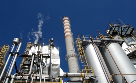 pulp: Paper and pulp mill - Power Plant Stock Photo