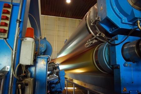 Papier-und Zellstofffabrik - Fabrik-, Anlagen Standard-Bild - 10756259
