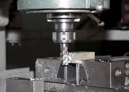 fabrication: Drilling and milling CNC in workshop