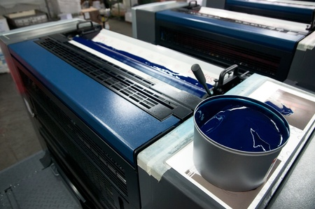 Drücken Sie Druck - Offset-Maschine Standard-Bild - 10756272