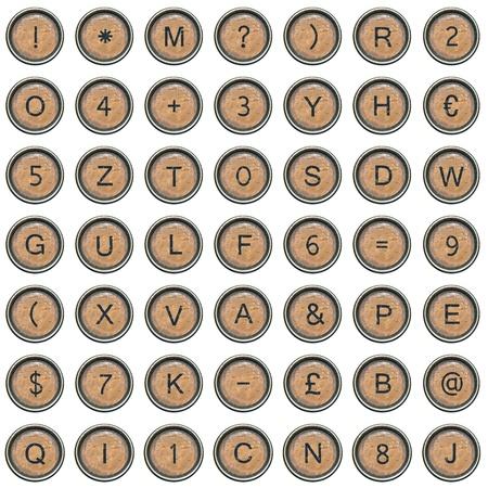 Font, bestehend aus Tastatur einer Schreibmaschine Standard-Bild - 12846844