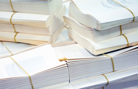 book binding: Bookbinding: details of books that are being bound