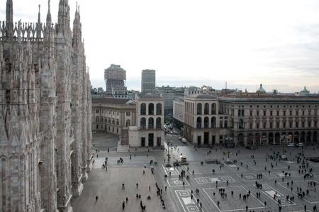 Aerial view of Piazza del Duomo - Milan Editorial