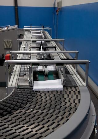 book binding: Print shop  press printing  - Finishing line