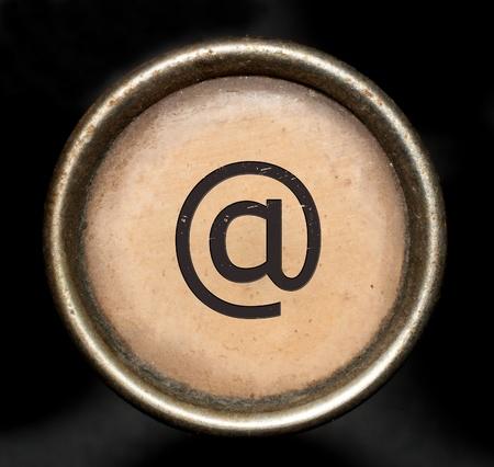 typewriter key: Font consisting of keys of a typewriter Stock Photo