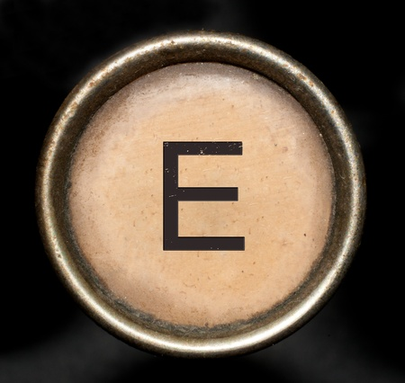 Font consisting of keys of a typewriter Stock Photo