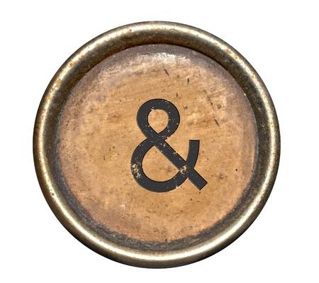 Font bestehend aus Tasten einer Schreibmaschine