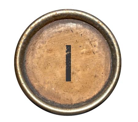 Font bestehend aus Tasten einer Schreibmaschine Standard-Bild - 12915974
