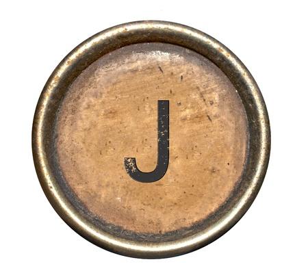 Font consisting of keys of a typewriter Standard-Bild