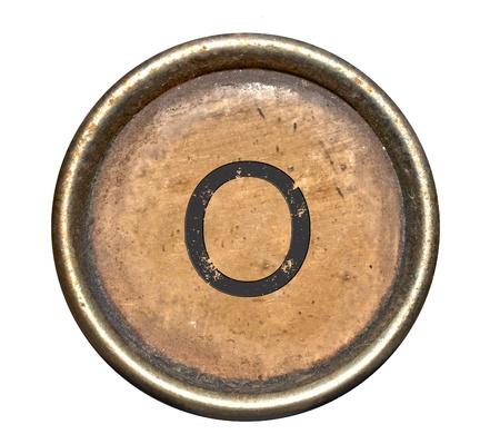 vintage: Font bestaande uit toetsen van een schrijfmachine