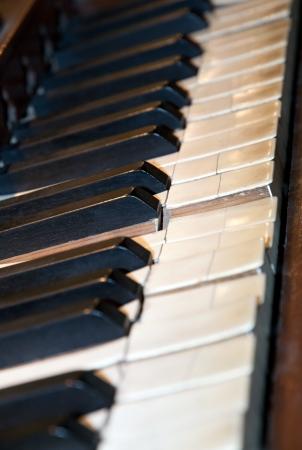 Old piano key Standard-Bild