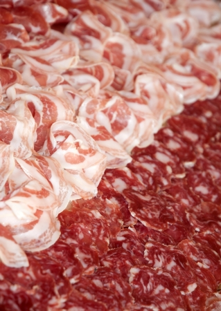 cold cuts: Cold Cuts Plate Stock Photo
