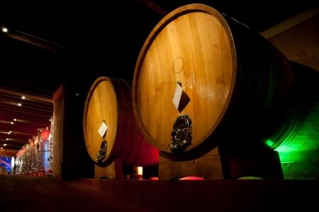 Wine barrel rack  Italy, Franciacorta