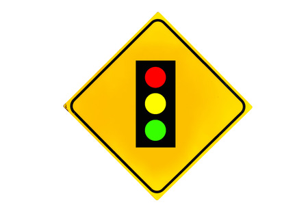 the traffic lights: Traffic lights sign is isolated on white background