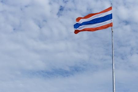 thailander: thailand flag on cloud background