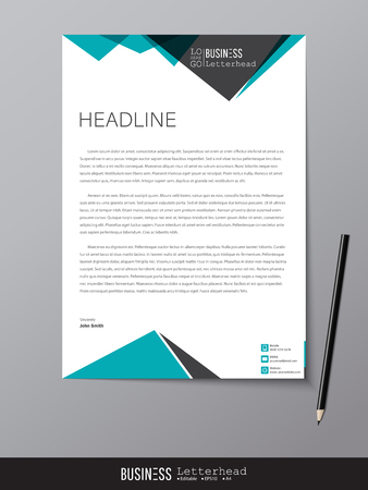 Letterhead design template and mockup minimalist style vector letterhead design template and mockup minimalist style vector design for business or letter layout accmission Gallery