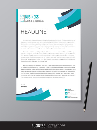 Letterhead design template and mock up minimalist style vector