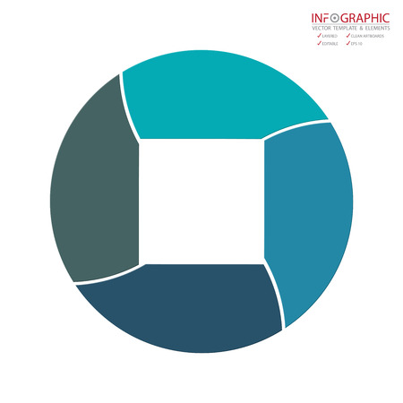 Vector abstract element infographics 4 option. Design for business finance template layout, brochure, workflow, information or presentation and other. Infographics timeline path. Abstract 3D vector.