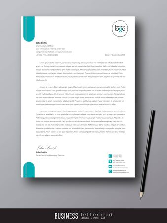 Letterhead modern design template and mockup minimalist style vector bundle. set design for business or letter layout, brochure, template, newsletter, document or presentation and other.
