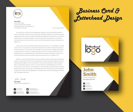 Vector modern creative and clean business card template and Letterhead modern design template and mockup minimalist style vector. design for business or letter layout, brochure, template, newsletter. 스톡 콘텐츠 - 140813868
